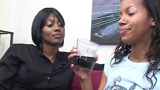 Two-horny-black-dykes-use-strapon