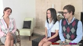 Sexy-StepMom-With-StepDaughter-Sucking-Younger-Boy