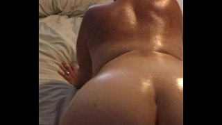 Bbw-wife-oiled-up-shaking-her-thick-ass