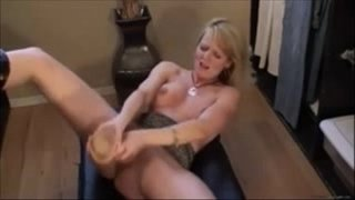 Horny-Milf-Squirting-With-a-Huge-Dildo