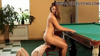 Pool-table-facesitting-femdom