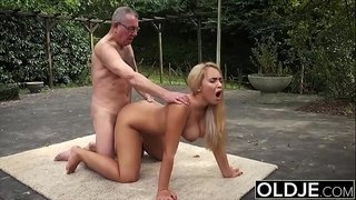 Old-and-Young-Porn---BustyTeen-Gets-Wet-and-Sucks-Grandpa