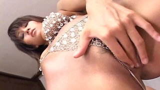 MILF-in-rhinestones-fingers-and-toys-her-trimmed-pussy
