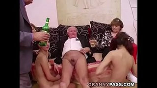 Young-girls-dance-for-grandpa-before-suck-his-cock