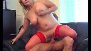 Blonde-Horny-Granny-Lured-The-Repairman-Into-Fucking