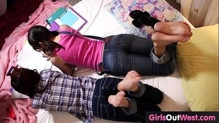 Hairy-lesbian-cuties-fuck-during-lesson-of-French