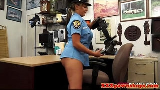 Latina-pawnshop-amateur-in-uniform-shows-ass