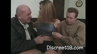 Two-Men's-Enjoying-Anal-Sex-With-A-Pussy-Girl