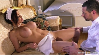 French-maid-Aletta-Ocean-plays-sex-doll-for-her-boss