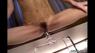 Japanese-babe-playing-with-a-big-dildo-uncensored