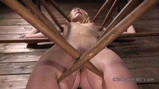 Strapped-blonde-pussy-toyed-hard