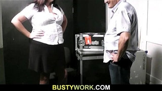 BBW-rides-his-meat-at-work
