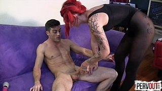 Ariel-Kay-Roommate-Control-with-Lance-Hart-PANTYHOSE-EDGING-FEMDOM
