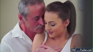 Czech-Katy-Rose-sucks-off-and-old-guy-before-riding-his-cock