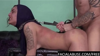 Hard-doggy-&-water-torture-for-Arab-cunt
