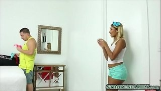 Sporty-latina-stepsisters-crush-on-stepbro-ends-in-a-fuck
