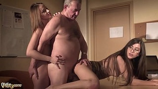 Sexy-secretary-joins-in-hardcore-threesome-with-her-boss-and-gets-deep-pussy-fuck