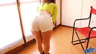 Perfect-Ass-&-Cameltoe-Teen-Wearing-G-String-and-Tight-Short