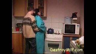 Boy-Fucks-Horny-Housewife's-In-The-Kitchen
