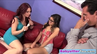 Pervy-Couple-Double-teams-Their-Sexy-Babysitter!