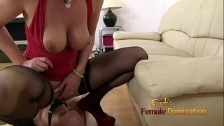 Mouth-mount-dildo-gag-fun-with-Mistress-Lara