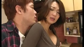 Asian-mom-forced-suck-and-titfuck-in-kitchen