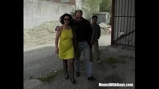 Russian-Mature-In-Stockings-Takes-On-Three-Cocks