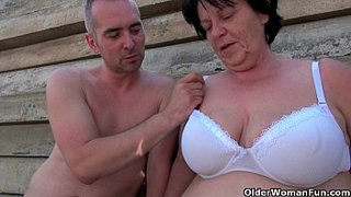 BBW-granny-makes-the-best-of-grandpa's-small-penis