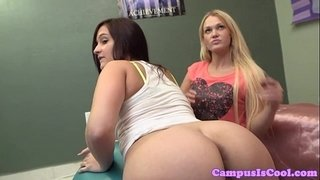 College-pov-threeway-with-amateur-students