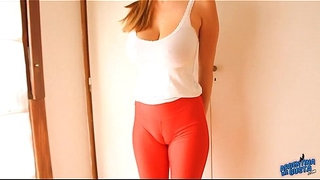 Huge-Cameltoe!-Tight-Spandex-Leggins--Huge-Pussy-Lips-Teen-and-Massive-Breasts.