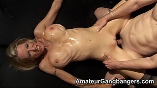 Two-blondes-are-gangbanged-and-jizzed-on