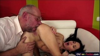 Russian-Sandra-Luberc-is-seducing-a-grandpa-and-gives-a-bj