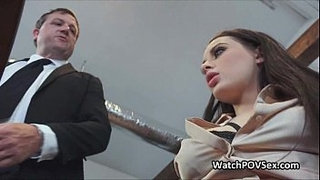 Almost-caught-fucking-bigtit-gf-at-office