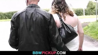Curly-fatty-jumps-on-stranger's-cock