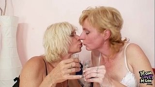 Blond-milfs-kissing-licking-and-dildo-fucking