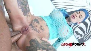 Tattooed-slut-Calisi-Ink-brutally-DAP'ed-&-creampied
